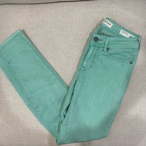 Bullhead denim teal jeggings